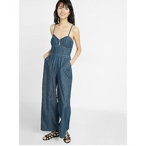 Express Retro Denim Jumpsuit